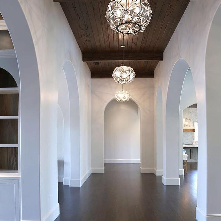Hallway With Pecky Cypress Ceiling
