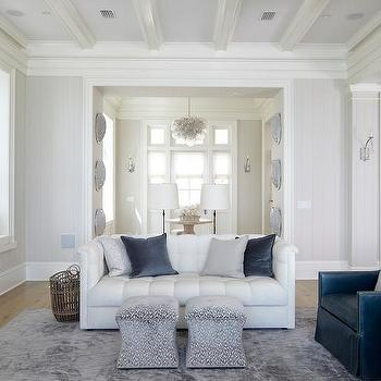 Living Room Gray Walls With White Crown Moulding Design Ideas