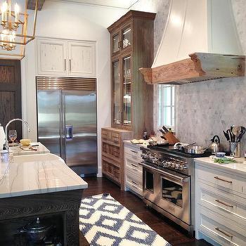 Kitchen Cabinets Ideas pecky cypress kitchen cabinets : White Pecky Cypress Kitchen Cabinets with Navy Blue Island ...