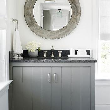 Gray tiled walls contemporary bathroom toronto for Charcoal grey bathroom accessories