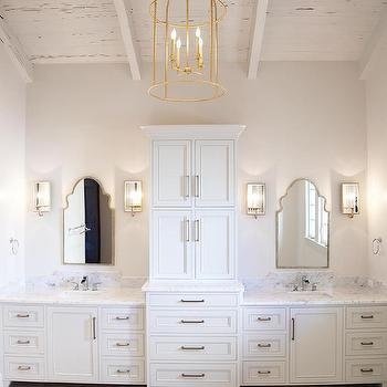 Bathroom Ceiling Sconces chrome washstand with silver branch wall sconces - contemporary