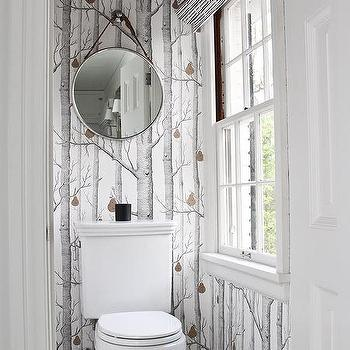 Gray Water Closet With Ceiling