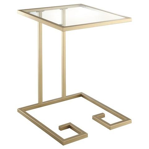 Threshold Gold Square Black Accent Table