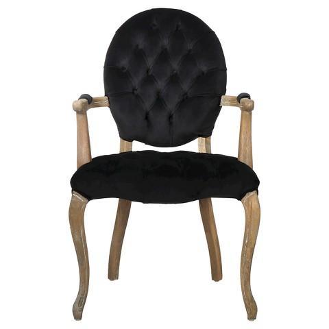 Black Velvet Round Back Dining Chair