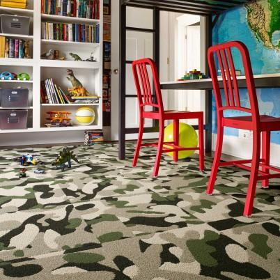 green tones camouflage carpet tiles