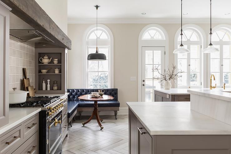 La Cornue Kitchen Designs Painting Entrancing Cooking Alcove With La Cornue Stove And Gray Built In Spice Racks . Decorating Inspiration