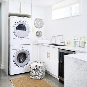 Basement Laundry Room With Ikea Cabinets