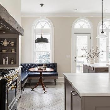 Gray French Kitchen With La Cornue Albertine Stove With