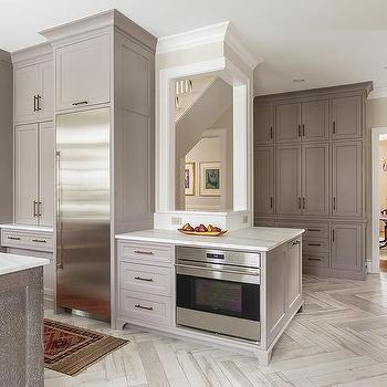 Herringbone Plank Tile Kitchen Floors Design Ideas