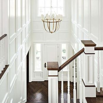 two story foyer with lancaster chandelier - Decorative Wall Molding Designs