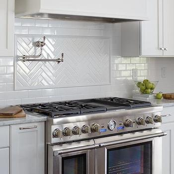 Thermador Countertop Stove : ... with a swing arm pot filler and a Thermador stove with dual ovens