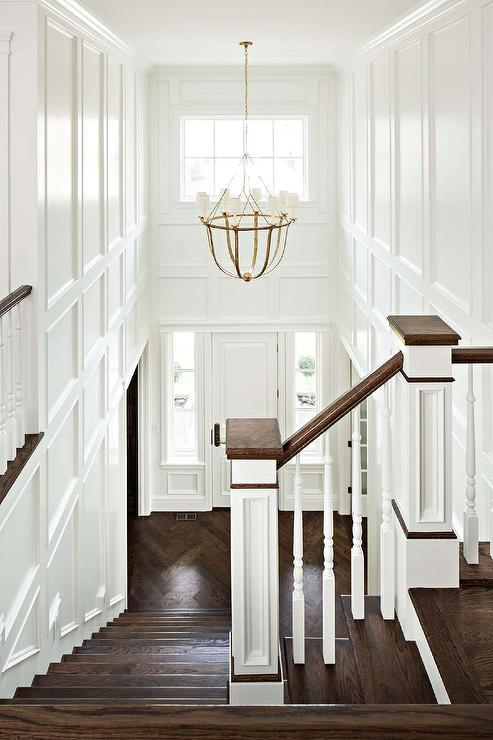 Modern Chandelier For Two Story Foyer : Decorative wall moldings design ideas
