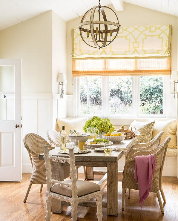 Cottage Dining Room: Cottage Dining Room With Window Seat Banquette