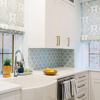kitchen backsplash tile. Blue Kitchen Backsplash Tiles With White Cabinets Fish Scale Tile Design Ideas