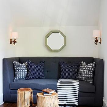 Blue And Gray Sofa Pillows Design Ideas