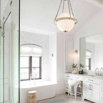 White And Taupe Bathroom Ideas Transitional Bathroom