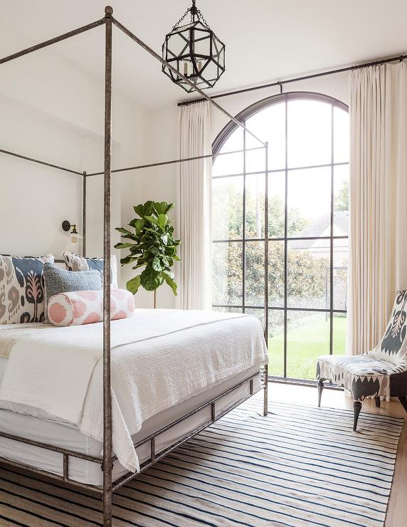 Bedroom palladian window with oly studio marco bed for Interior design canopy bed