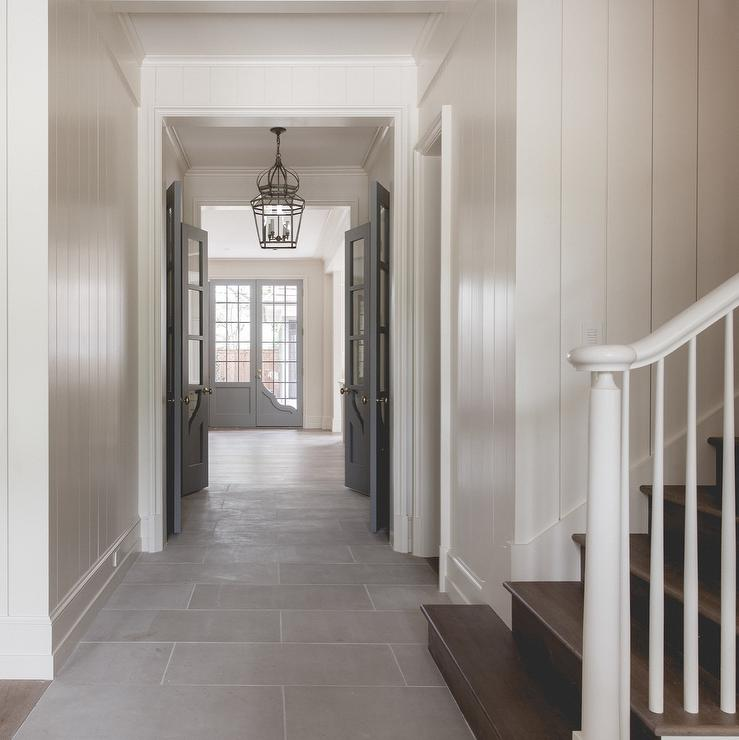 White walls with gray interior doors cottage entrance Grey interior walls