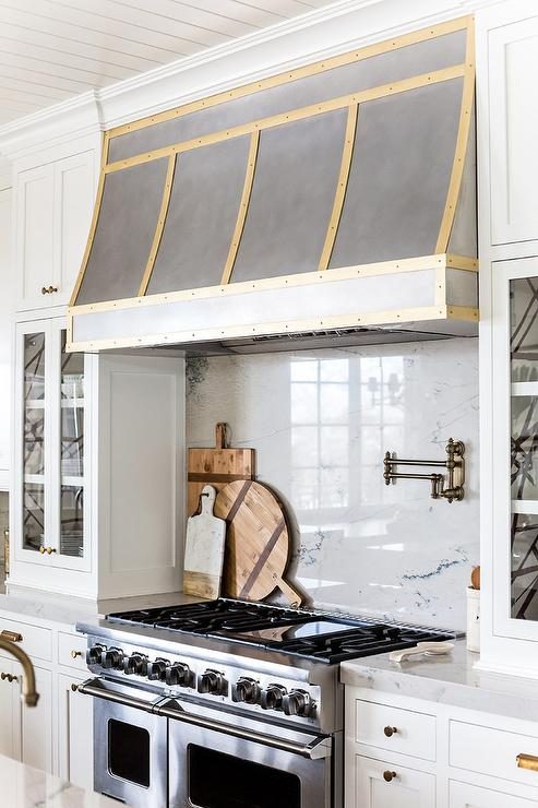 Gold Kitchen Hood Trim Transitional Kitchen Benjamin