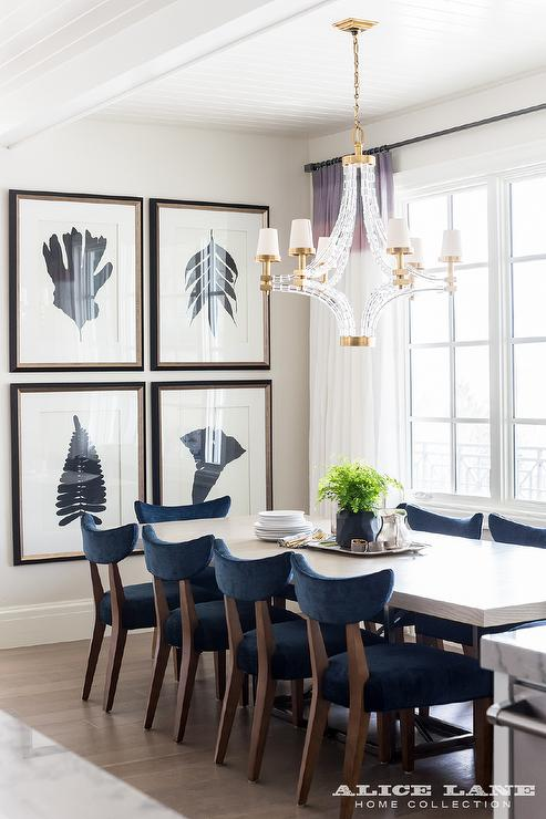 navy blue velvet dining chairs design ideas