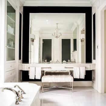 Master Bathroom Full Wall Mirror Design Ideas