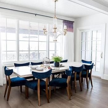 blue and purple dining rooms design ideas