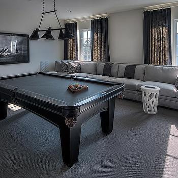 Media Room With Pool Table Design Ideas - How long is a pool table