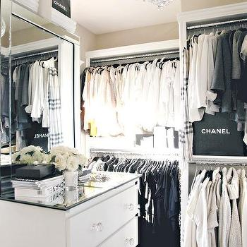 Perfect Walk In Closet With Chanel Bags