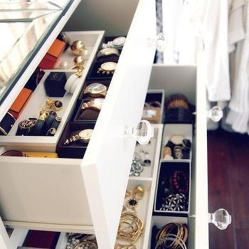Closet Dresser Drawer Jewelry Trays Design Ideas