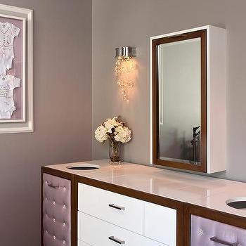 Gray And Purple Nursery With Ultimate Dresser Ed Diaper Holes