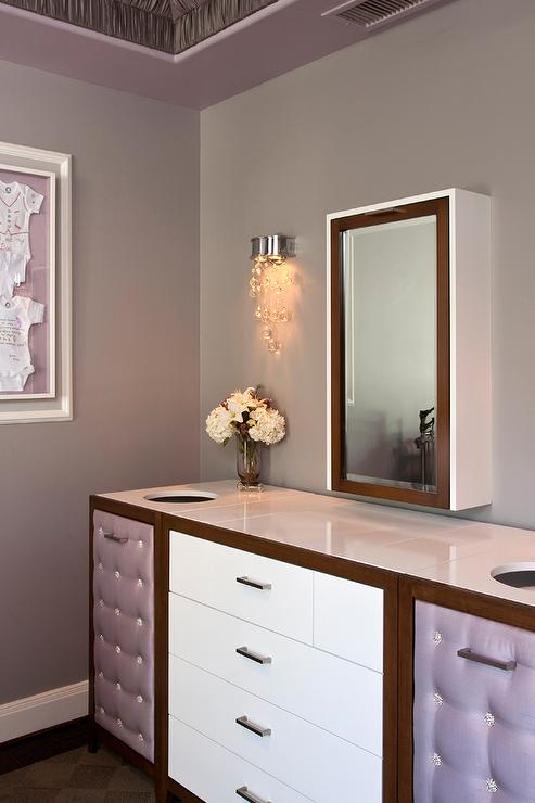 Glam Nursery With Wall Mount Concealed Drop Down Changing