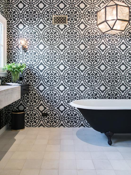 Suzanne Kalser Over Black Clawfoot Tub - Contemporary - Bathroom