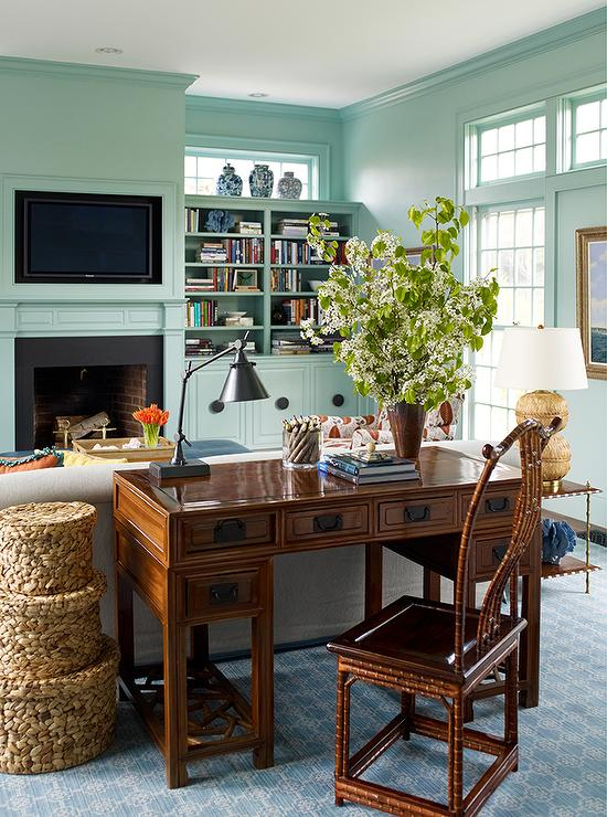 Peachy Chinoiserie Desk Behind Living Room Desk View Full Size Living Largest Home Design Picture Inspirations Pitcheantrous