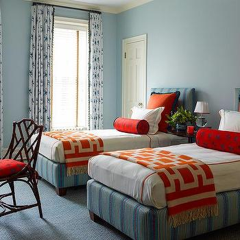 Orange Cashmere Contemporary Throw In Boy 39 S Room