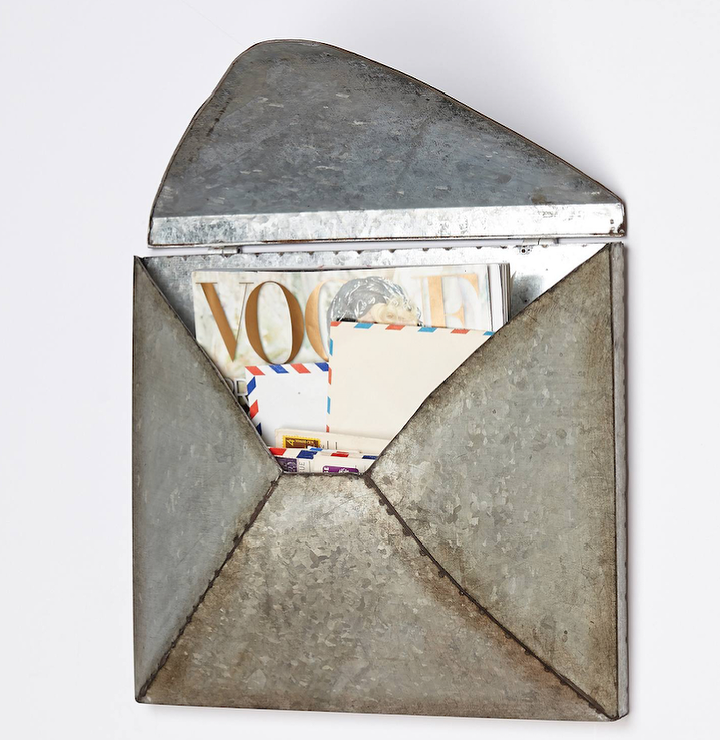 Metal Envelope Wall Decor : Anthropologie welded letter holder look for less