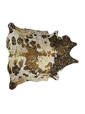 Gold And Brown Metallic Cowhide Rug View Full Size