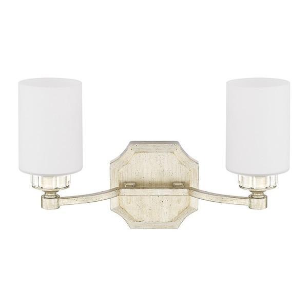 two shade gold vanity light. Black Bedroom Furniture Sets. Home Design Ideas