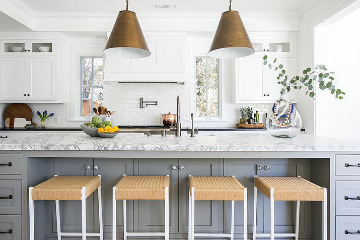 Kitchen Island Cabinets. Long Gray Kitchen Island with Drawers and Cabinets  Transitional