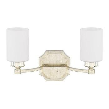 Bronze Frame Three Glass Shade Vanity Light
