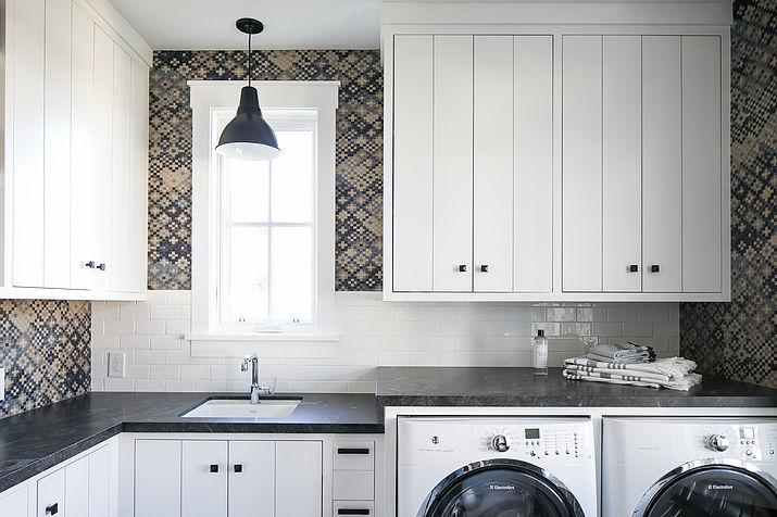 Laundry Room Backsplash mixed laundry room backsplash tiles design ideas