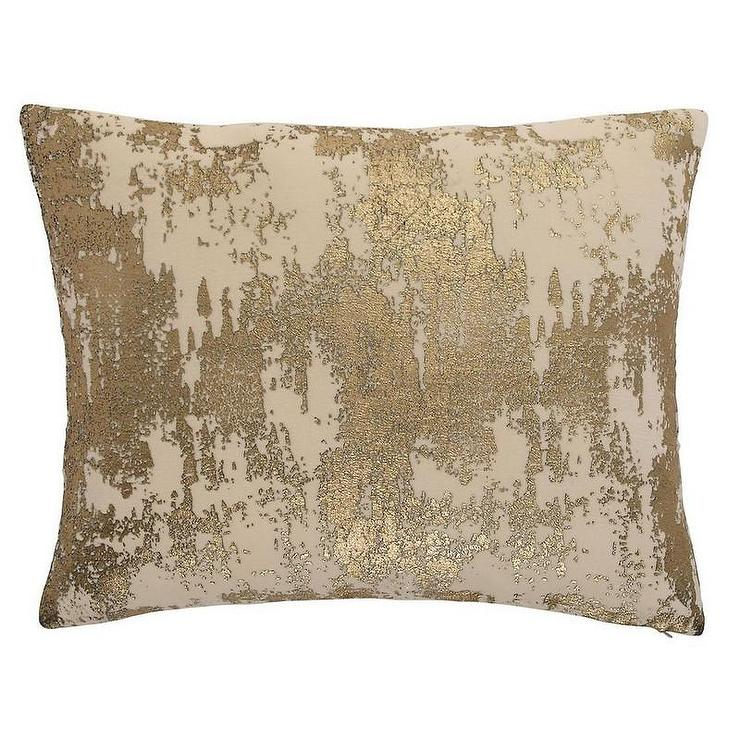 abstract pattern gold foil pillow cover