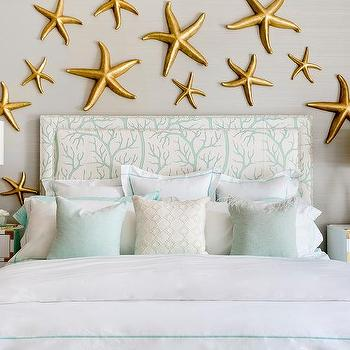 Gray And Green Bedroom With White And Gold Campaign