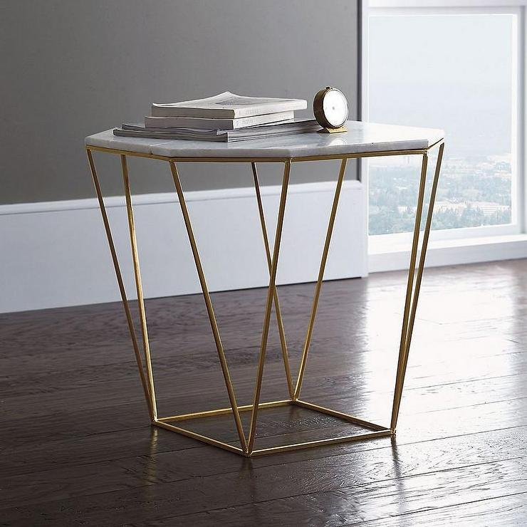 Bunny Williams Home Gold Hourglass Table