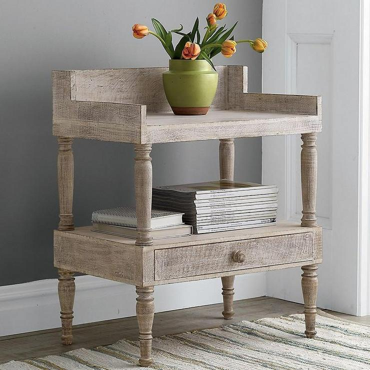 Threshold Two Drawer Black Accent Table