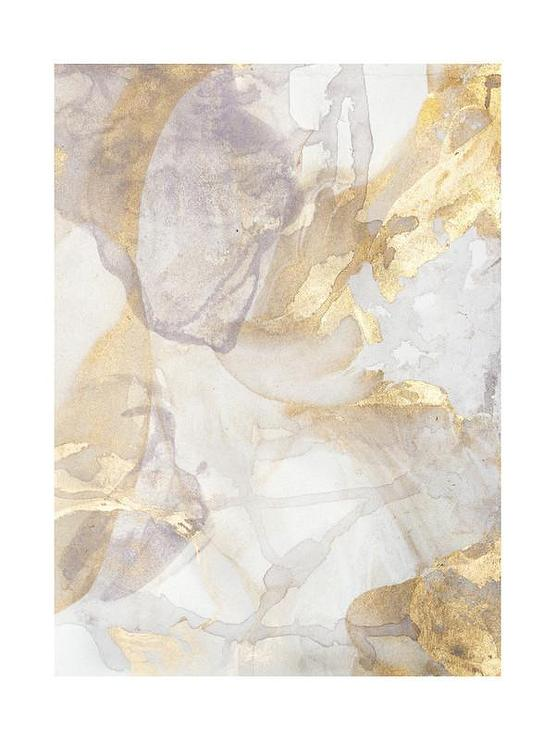 Gold And Silver Layers Abstract Art