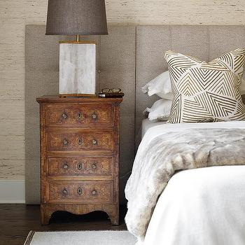 Gray Linen Headboard Contemporary Bedroom Adore Magazine