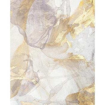 John Richard Collection Large White And Gold Abstract
