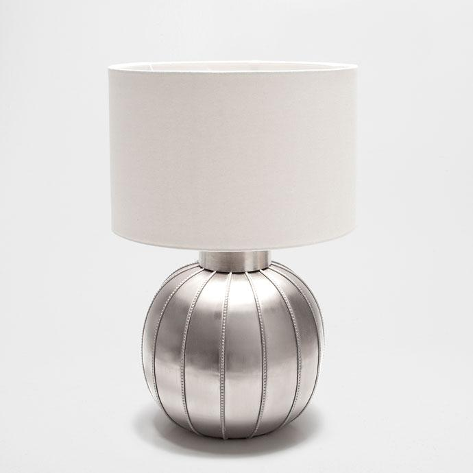 Trophy White Table Lamp With Empire Shade