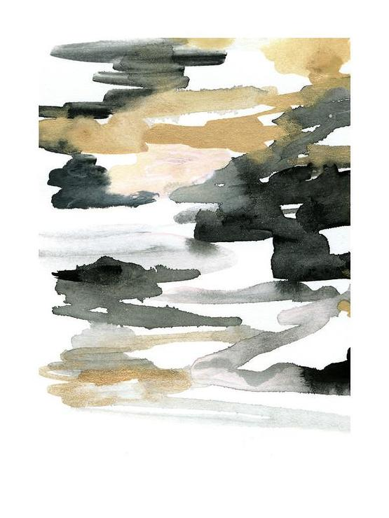 Abstract Gold And Black Watercolor Art