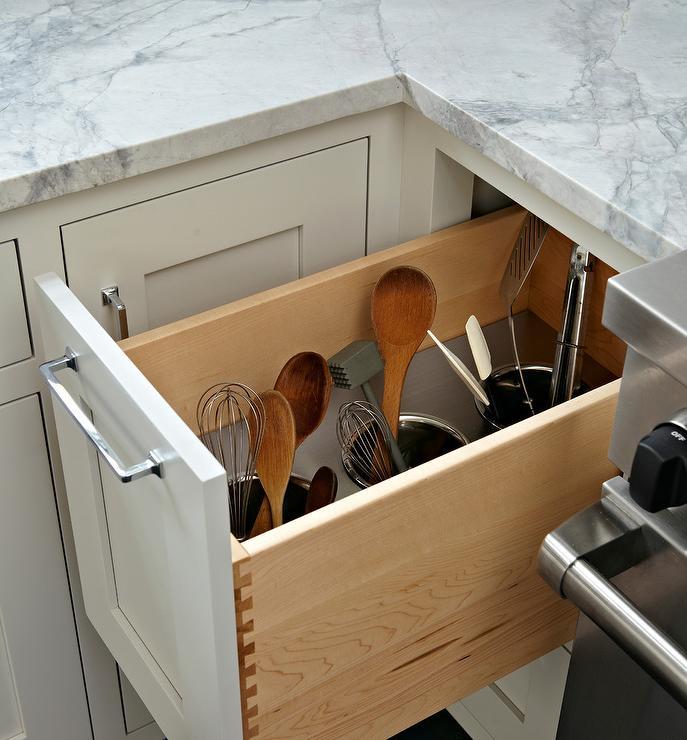 Kitchen Utensils Storage Cabinet hidden kitchen utensil storage design ideas